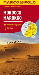 MARCO POLO Länderkarte Marokko 1:800 000