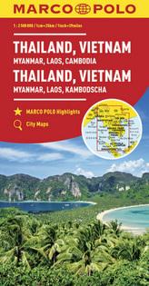 MARCO POLO Kontinentalkarte Thailand, Vietnam 1:2 500 000