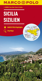 MARCO POLO Karte Sizilien 1:200 000. Sicile. Sicilia; Sicily