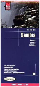 Reise Know-How Landkarte Sambia (1:1.000.000). Zambia / Zambie