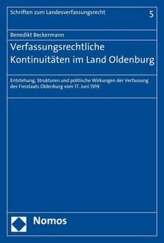 Verfassungsrechtliche Kontinuitäten im Land Oldenburg