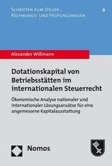 Dotationskapital von Betriebsstätten im internationalen Steuerrecht
