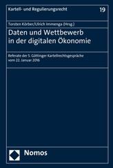 Daten und Wettbewerb in der digitalen Ökonomie