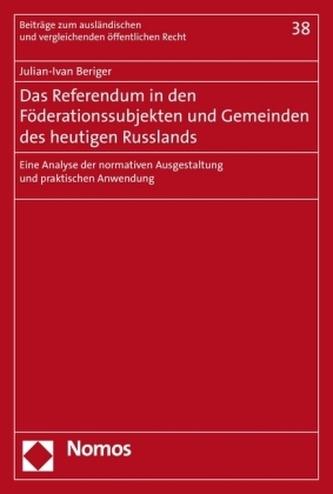 Das Referendum in den Föderationssubjekten und Gemeinden des heutigen Russlands