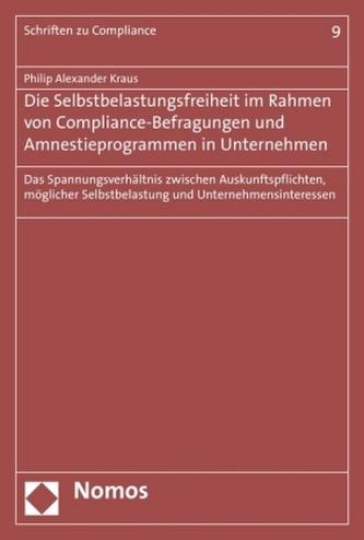 Die Selbstbelastungsfreiheit im Rahmen von Compliance-Befragungen und Amnestieprogrammen in Unternehmen