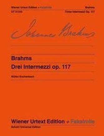 Drei Intermezzi op. 117, Klavier