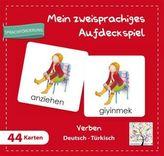 Mein zweisprachiges Aufdeckspiel, Verben Deutsch-Türkisch (Kinderspiel)
