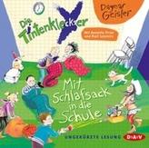 Die Tintenkleckser - Mit Schlafsack in die Schule, 1 Audio-CD