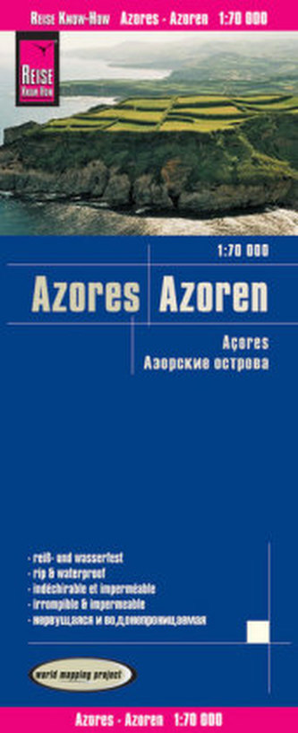 World Mapping Project Landkarte Azoren (1:70.000). Azores. Acores