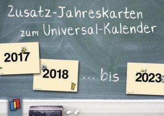 Zusatz-Jahreskarten zum Universalkalender, ab 2017