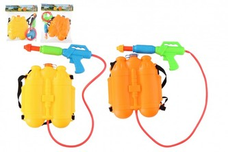 Vodní pistole s batohem/zásobníkem na záda plast 31cm 2 barvy v sáčku