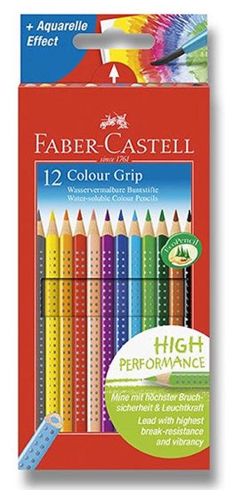 Faber - Castell Pastelky trojhranné Grip - rozmývatelné 12 ks