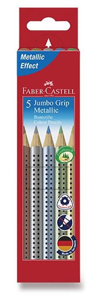 Faber - Castell Pastelky trojhranné Jumbo Grip - Metallic 5 ks