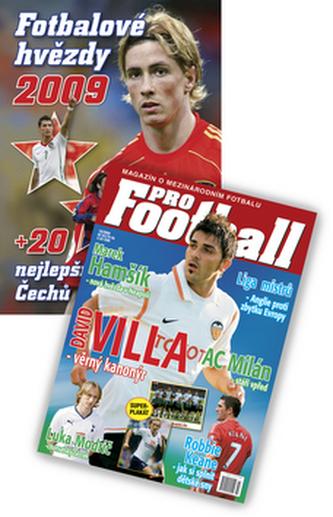 Balíček 2ks Fotbalové hvězdy 2009 + časopis ProFootball