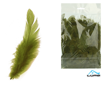 Peří barevné 10g olivové