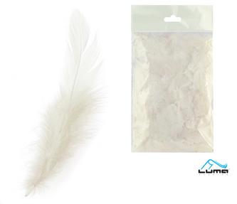 Peří barevné 10g bílé