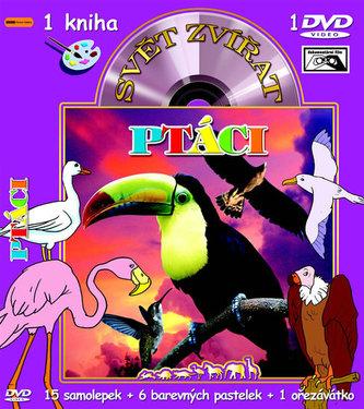 Svět zvířat Ptáci (kniha omalovánek s DVD)