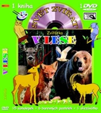 Svět zvířat Zvířátka v lese (kniha omalovánek s DVD)
