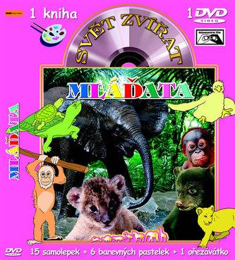 Svět zvířat Mláďata (kniha omalovánek s DVD)