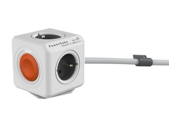 Zásuvka POWERCUBE EXTENDED REMOTE SINGLE s kabelem 1.5m WHITE