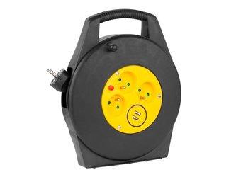 Prodlužovací kabel na bubnu - 3 zásuvky 10m REBEL URZ3267