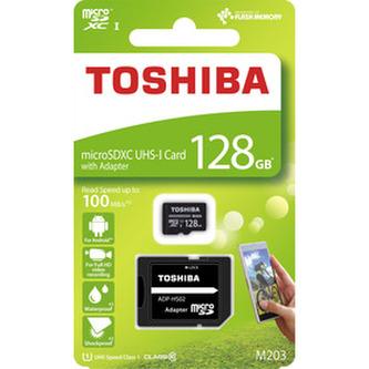 MicroSDXC 128GB CL10 UHS1+adap. TOSHIBA