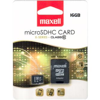 Paměťová karta MAXELL MicroSD 16GB + ad 854717