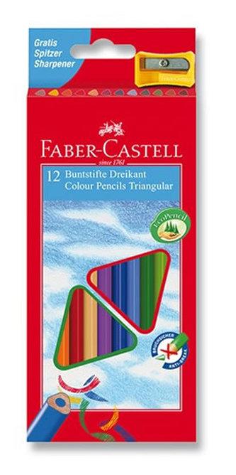 Faber - Castell Pastelky trojhranné ECO 12 ks + ořezávátko