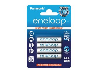 Baterie AAA (R03) nabíjecí 1,2V/750mAh Eneloop PANASONIC 4ks