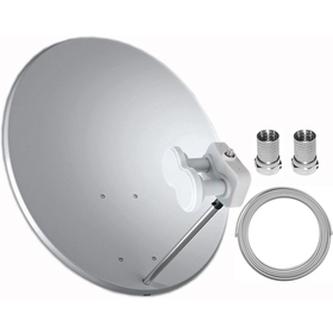 Satelitní komplet TELE SYSTEM Parabola 80 cm + LNB na 1 TV