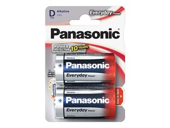 Baterie D (R20) alkalická PANASONIC Everyday Power 2BP