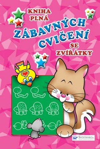 Kniha plná zábavných cvičení se zvířátky