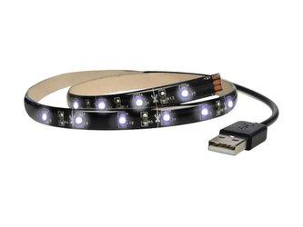 LED pásek pro TV, 100cm, USB, vypínač, studená bílá SOLIGHT WM501