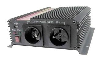 Měnič napětí CARSPA CAR1K 24V/230V 1000W