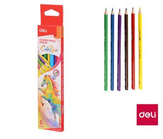 Pastelky DELI trojhranné ColoRun 6 barev EC00360