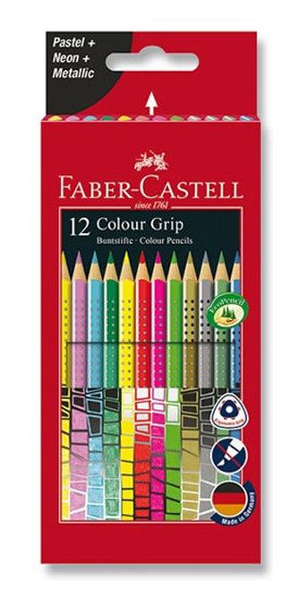 Faber - Castell Pastelky trojhranné Grip 2001 12 ks
