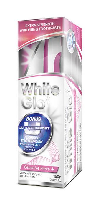 White Glo White Glo zubní pasta Sensitive Forte 150g + kartáček na zuby a mezizubní kartáčky