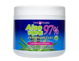 Vivapharm Aloe Vera zklidňující gel s 97% aloe v doze 600 ml