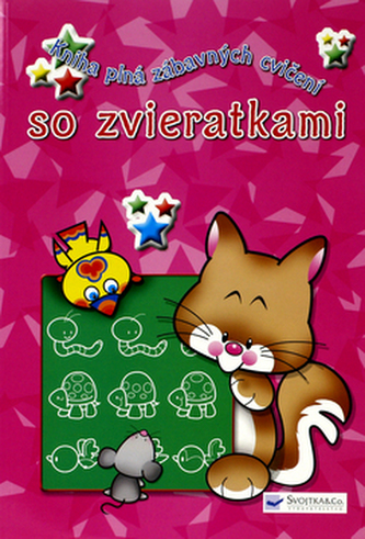 Kniha plná zábavných cvičení so zvieratkami