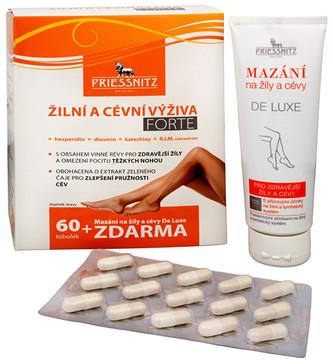 Simply You Priessnitz Žilní a cévní výživa Forte 60 tob. + Mazání na žíly a cévy De Luxe 125 ml ZDAR