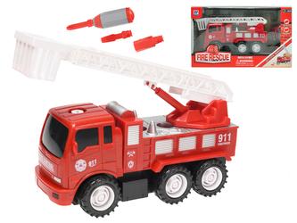Auto hasiči 18cm šroubovací na setrvačník s doplňky v krabičce