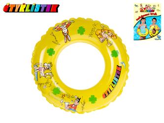 Kruh Čtyřlístek nafukovací transparentní 40cm 3-10let v sáčku