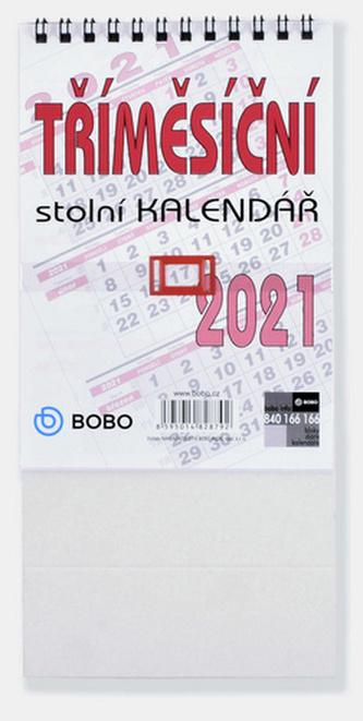 Tříměsíční stolní kalendář 2021 - stolní kalendář