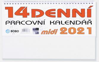 Pracovní Midi 14denní kalendář - stolní kalendář 2021
