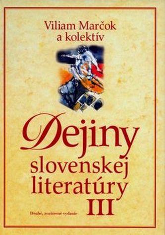 Dejiny slovenskej literatúry III