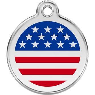 Známka Red Dingo - US vlajka - Modrá velikost známky L - 37 mm