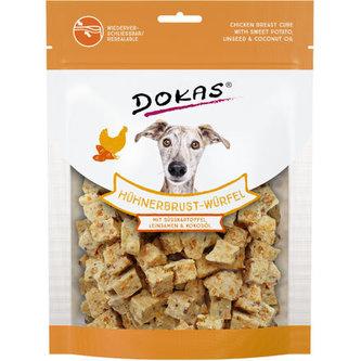 Dokas - Kuřecí kostky s batáty a lněným s. 150 g