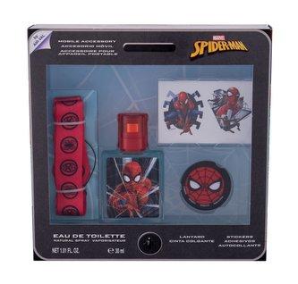 Marvel Spiderman toaletní voda 30 ml + samolepky + klíčenka + držák na mobil