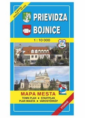 Prievidza Bojnice Mapa mesta Town plan Stadtplan Plan miasta Várostérkép