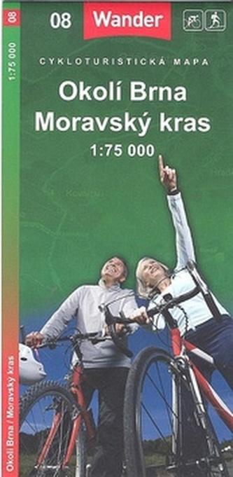 Okolí Brna Moravský kras 1:75 000